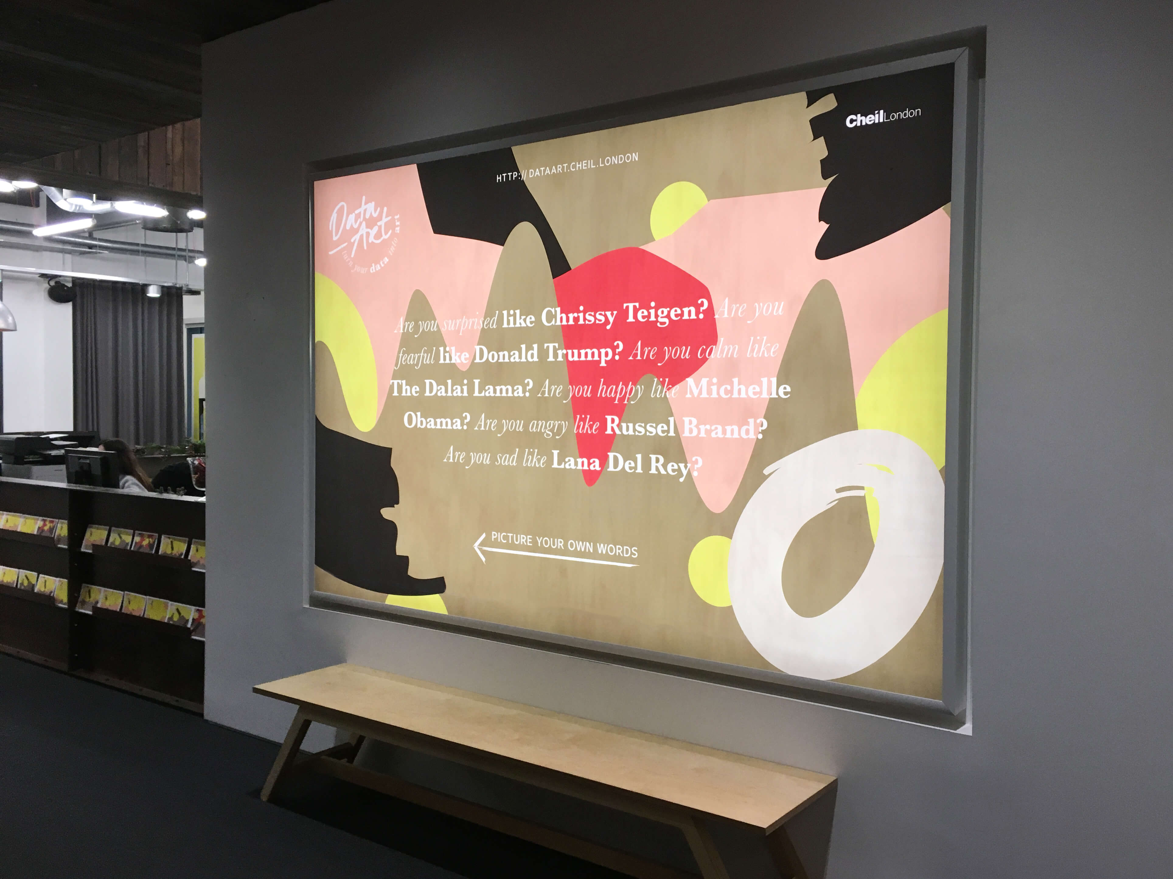 Big Data Art poster in entrance space
