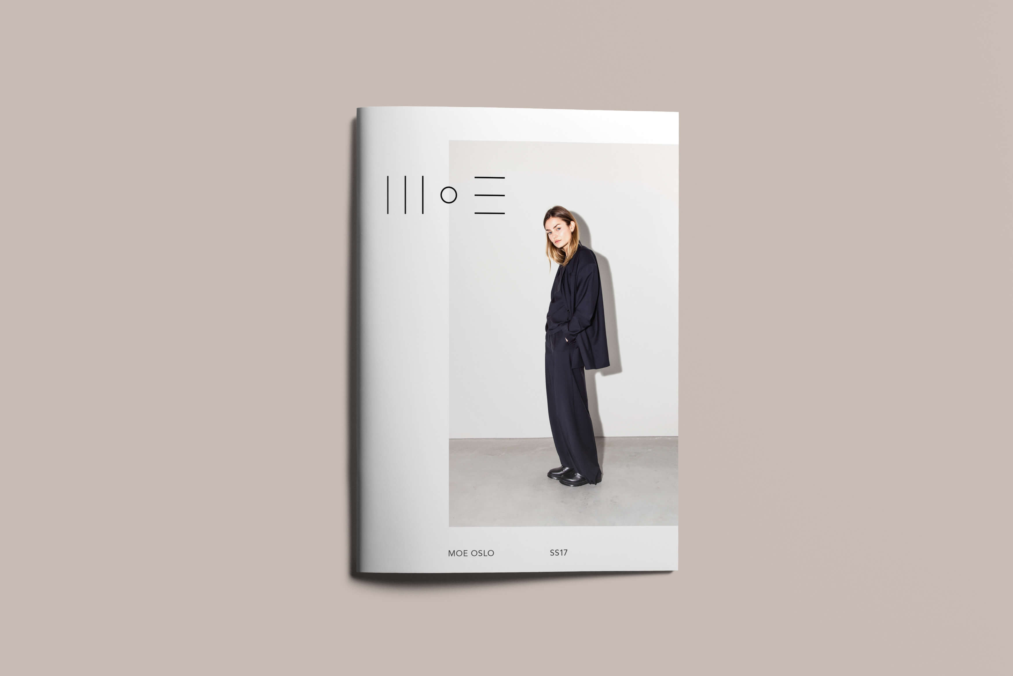 Lookbook cover of fashion brand Moe Oslo