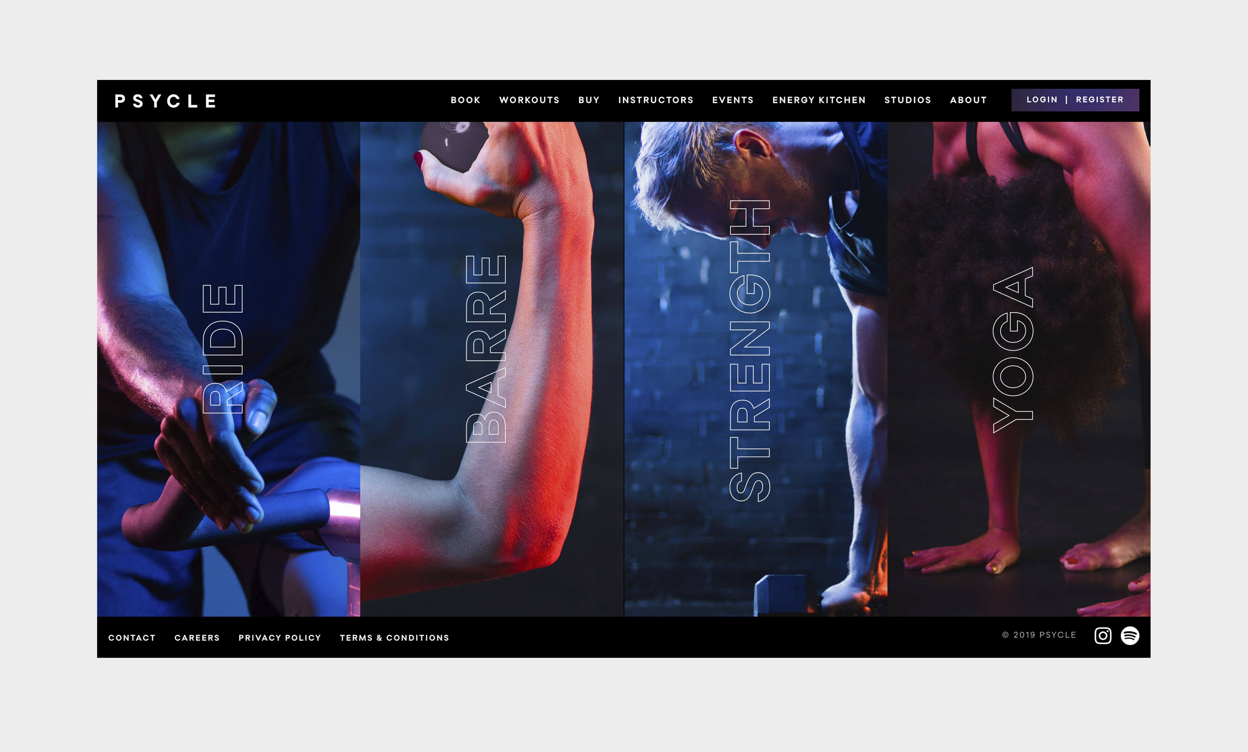 Landing Page design for Psycle Fitness