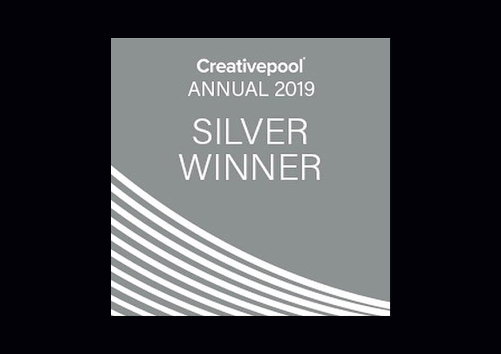 Banner showcasing silver win in 2019 creativepool awards for Petrie Magazine Issue 69