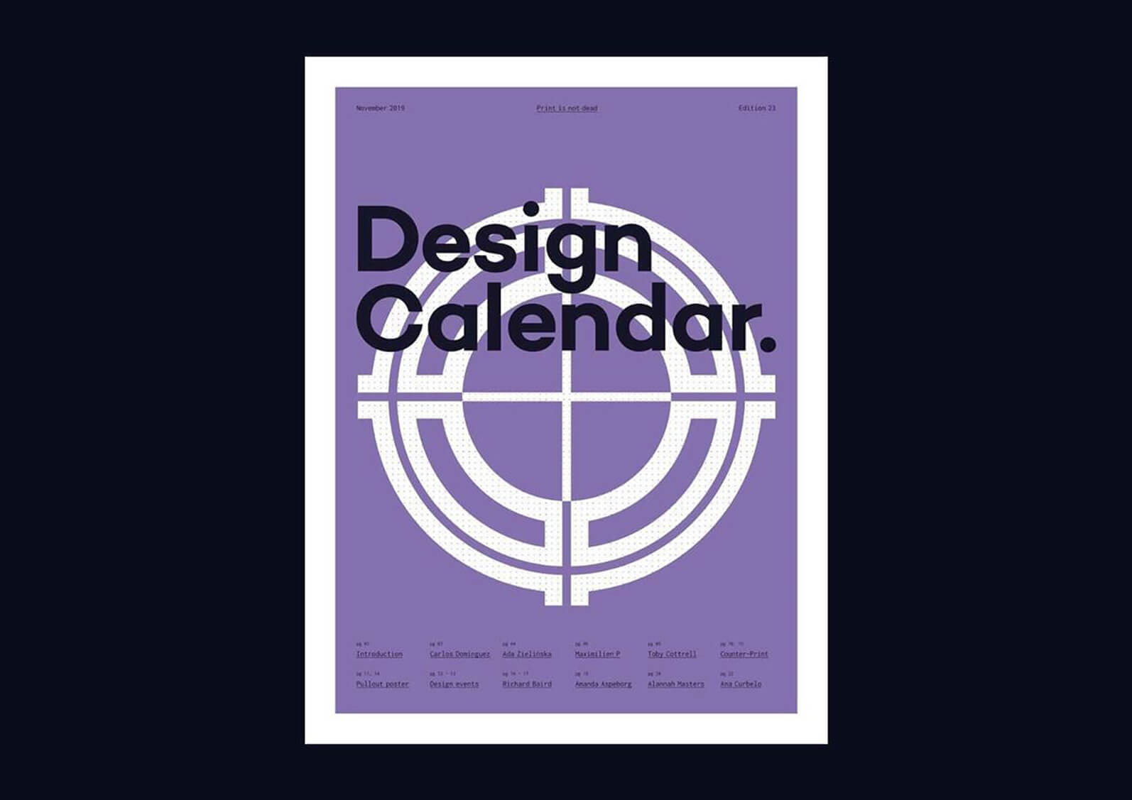 Cover of Design calendar november edition