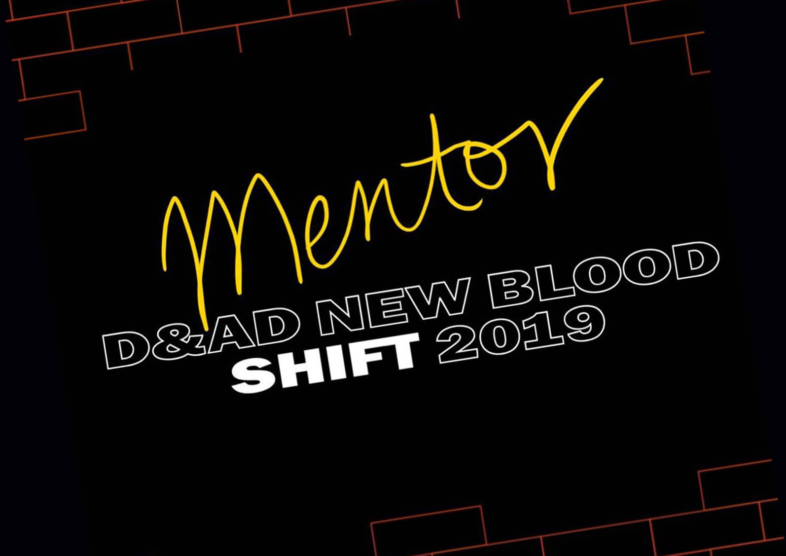 Visual announcement of becoming a mentor for D&AD