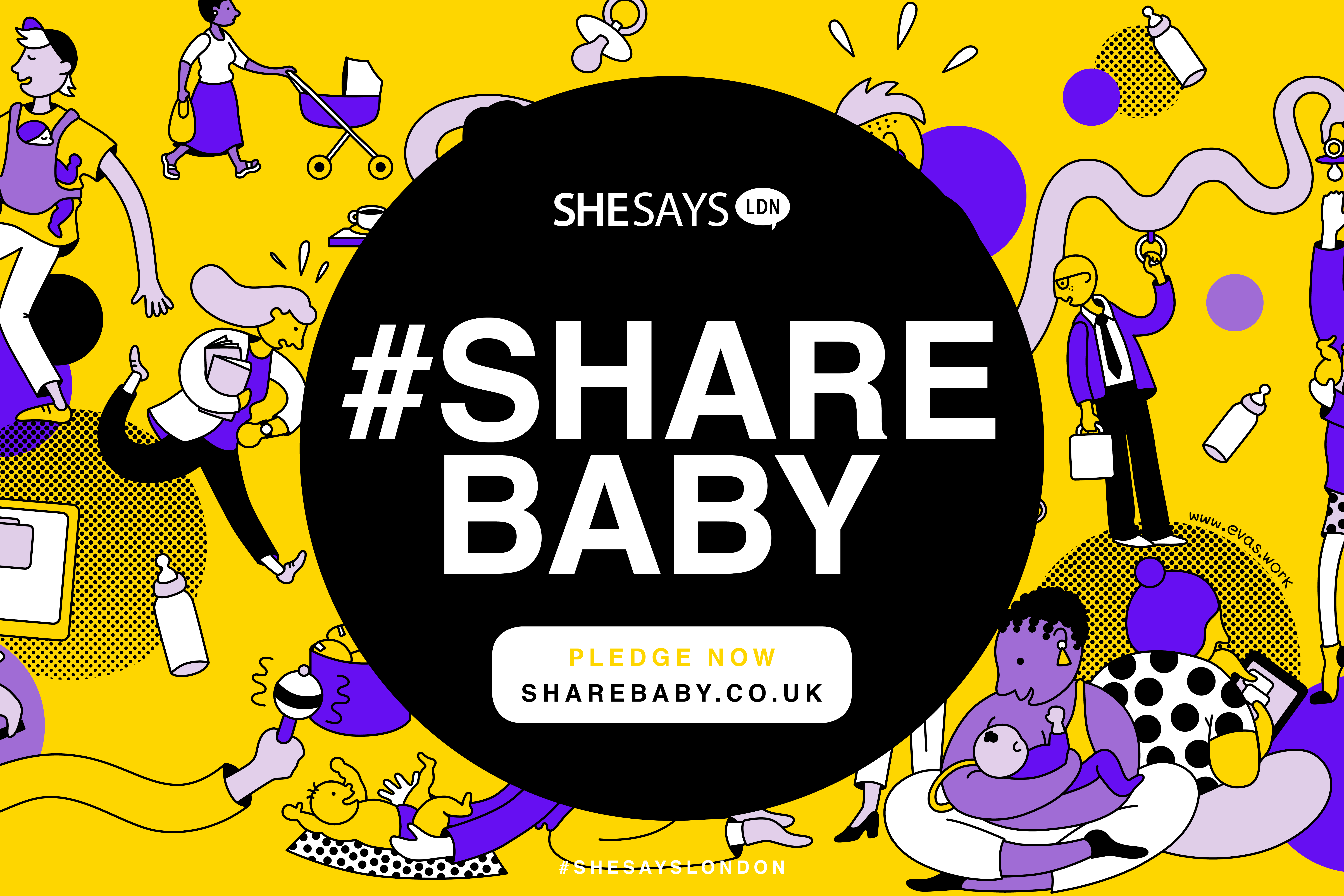 ShareBaby campaign visual illustrating various ways of parenting