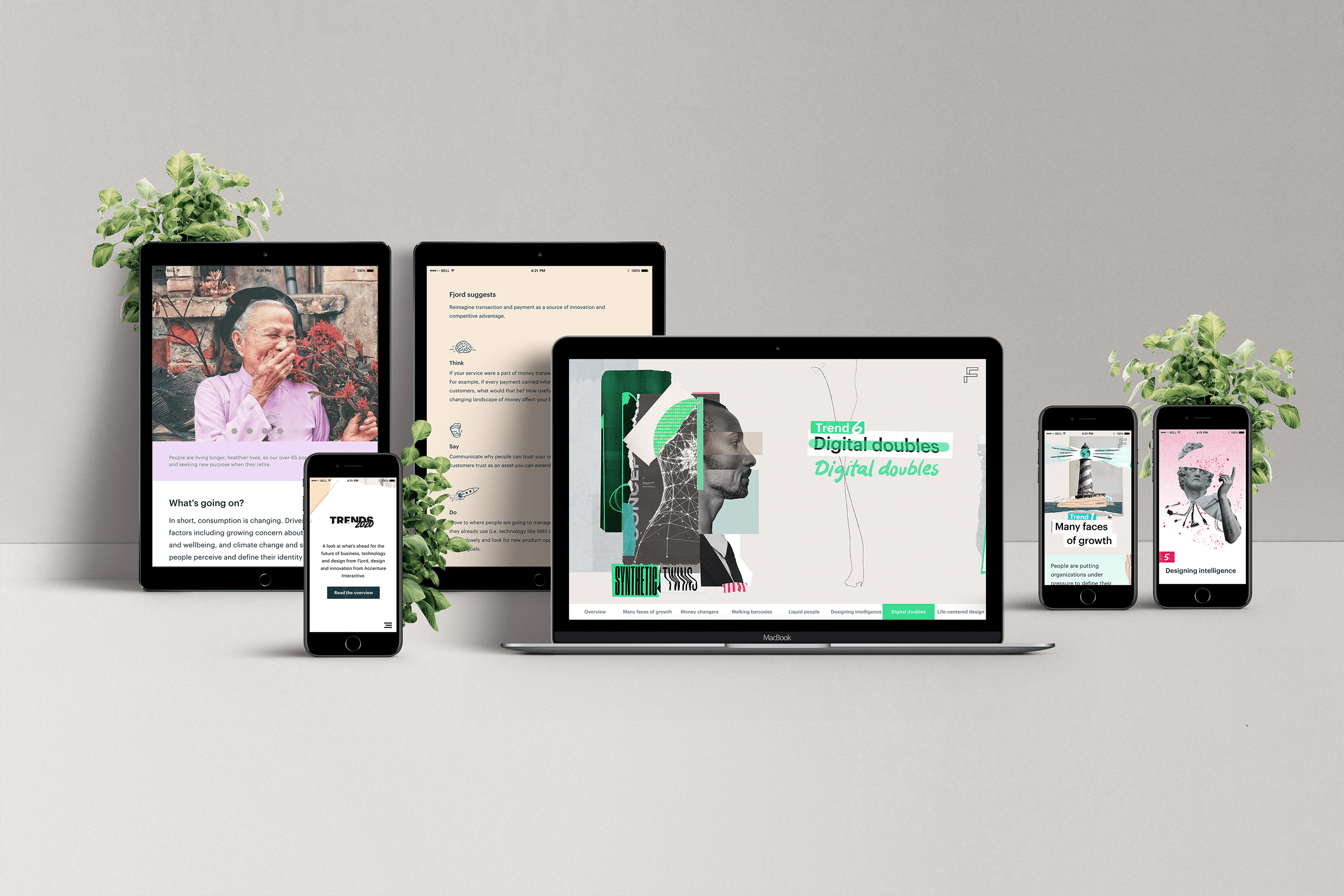 Trends2020 Website on responsive devices